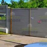 шумоотражающий забор с воротами
