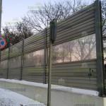 шумоотражающий забор 3м, комбинированный, с ПШО и СП экранами