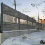 шумозащитный забор 3м, комбинированный