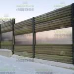 шумо защитный забор 3м