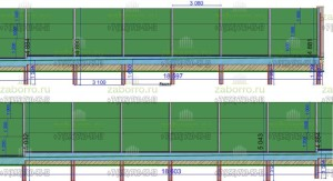 1. Проект шумозащитного забора. Раскладка 3-4 справа налево, вид снаружи