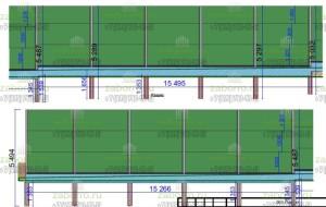 1.1. Проект шумозащитного забора. Раскладка 3-4 справа налево, вид снаружи