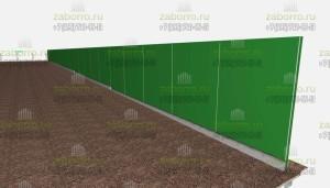1.5. Как будет выглядеть шумозащитный забор в цвете в 3Д.