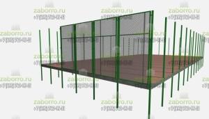 3д проекта ограждения для спортивной площадки