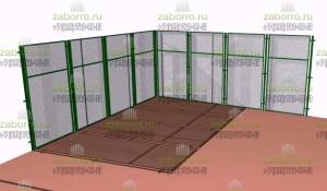 Проект забора вокруг спортивной площадки из сетки рабицы
